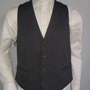 Marc Ecko Black Suit Vest Size Large Excellent